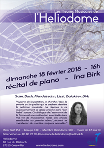 Les Heures Musicales de l'Heliodome Ina Birk